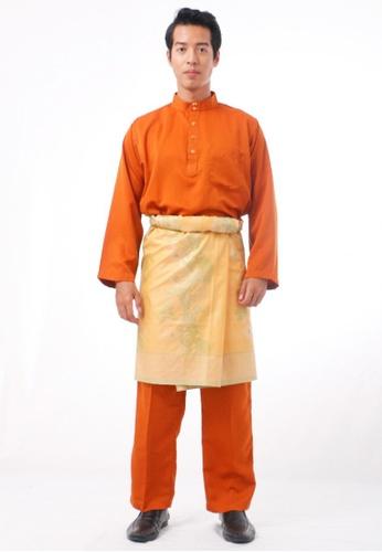 KAMDAR orange Baju Melayu Cekak Musang 00425AA9E1E433GS_1