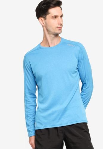 2XU blue XVENT G2 Long Sleeve Top 5FBD6AA6425B80GS_1
