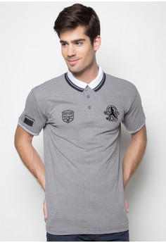 Polo Shirt with Emblems