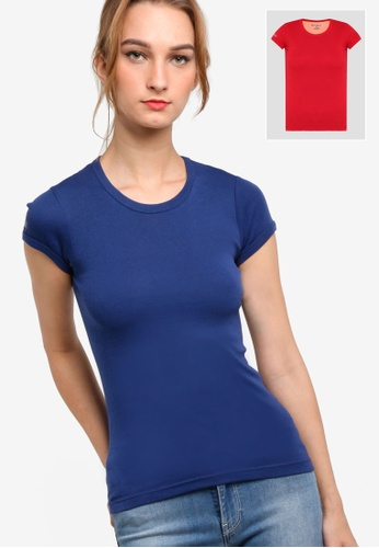 Nukleus red and navy Earth'S Gift (Round Neck Tee) CCCFAAA8D0B32AGS_1