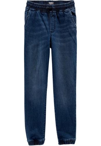 Oshkosh B'gosh blue OSH KOSH Boy Knit Denim Jogger Pants ECACDKA5DF41B9GS_1