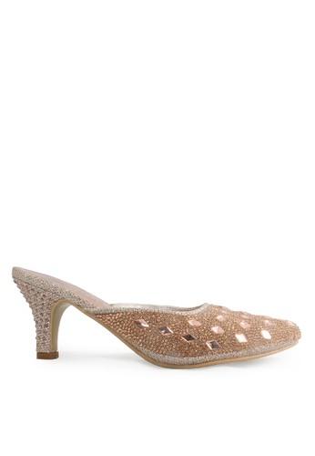 CLARETTE gold Clarette Heels Kristal Gold Pink CL076SH91CMUID_1