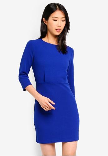 ZALORA BASICS blue Basic Pleated Dress 0B1E4AA0A24B0DGS_1