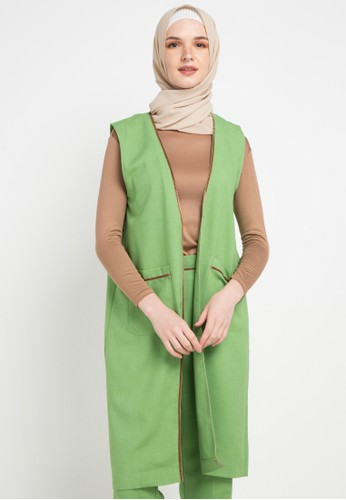 OMARA green Sabrina Vest 76CD5AAD2E0670GS_1