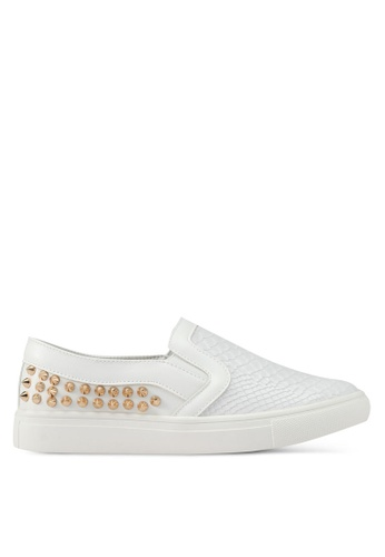 addicts anonymous white Chloe Back Studs Snakeskin Slip Ons AD479SH0SR5IMY_1