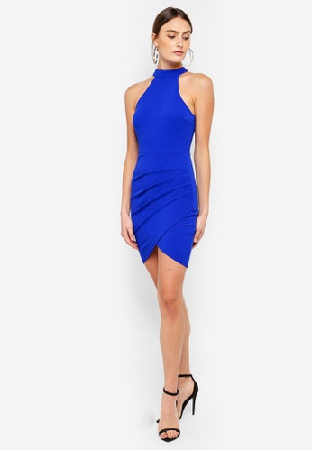 Shop AX Paris Choker Neck Bodycon Dress Online on ZALORA Philippines b6f674a40