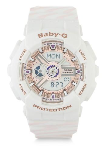 Baby-G white Casio BABY-G Jam Tangan Wanita - White - Resin - BA-110CH-7ADR 8A5E6AC6601577GS_1