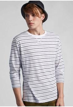 Stripes Strips Cotton Sweatshirt
