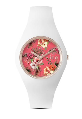 Ice Flower 花esprit品牌介绍卉圖案中性手錶, 錶類, 休閒型