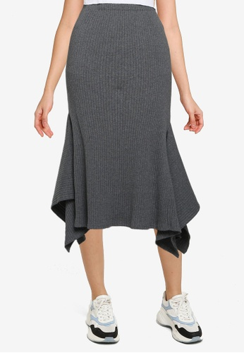Nichii 灰色 Mermaid Skirt A5106AAF8363C2GS_1