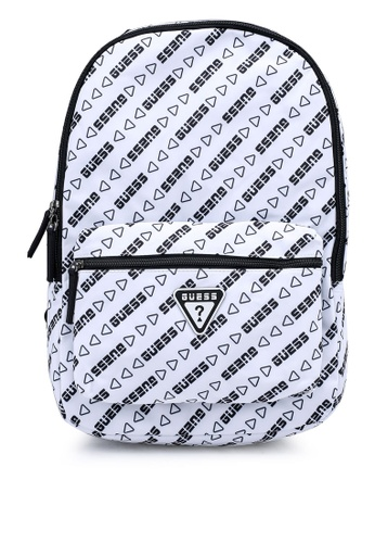 GUESS white Repeat Backpack 8FA83ACB4D7FF6GS_1