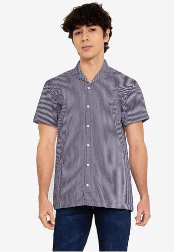 !Solid blue Brando Shirt 4D873AA479AFD8GS_1