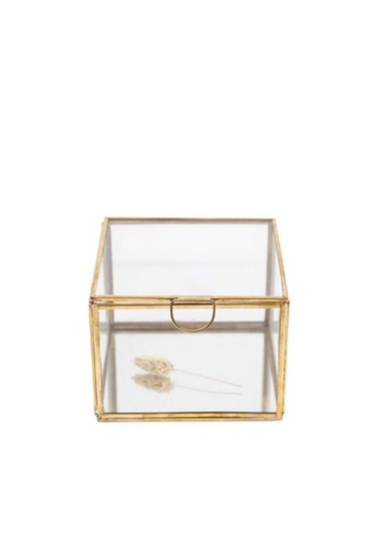 Stylodeco Vintage Jewellery Box in Brass, Mirror Base, L 94D08HLDD30281GS_1
