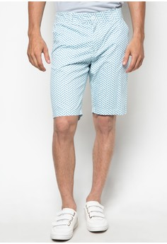 Printed Shorts Light Blue