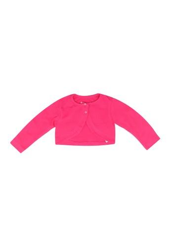 Babybol pink Basic Cotton Cardigan 577E3KA6439F4DGS_1