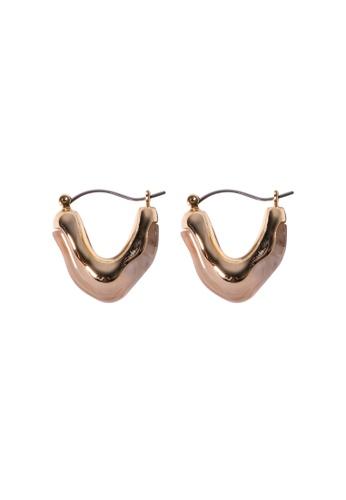 SKEDA gold Mabel Gold Hoop Earrings F0A27AC1CD3BC7GS_1