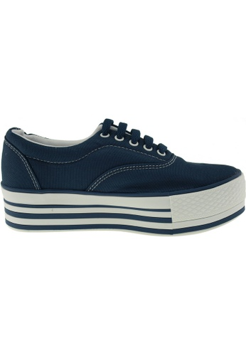 Maxstar / Maxstar Women's C40 5 Holes Platform Canvas Low Top Sneakers US Women Size / Navy