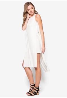 Double Layer Midi Column Dress