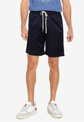 Banana Republic navy 9-Inch Cotton Easy Shorts 9FAADAA07612FDGS_1