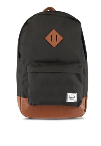 Herschel black Heritage Mid-Volume Backpack BA668AC405FB98GS_1