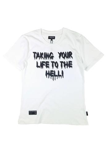 L.I.M.I.T.E white Regular fit Printed T-Shirt LI425AA0FCJDSG_1