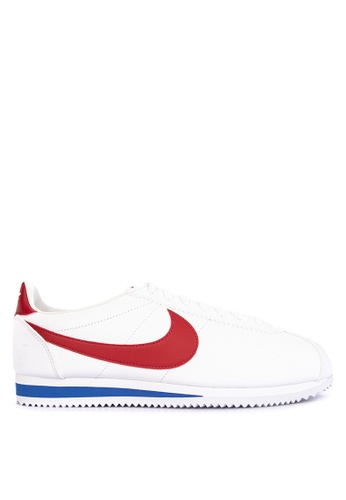 Nike white Men's Nike Classic Cortez Leather Running Shoes 40CCDSH7837EB9GS_1