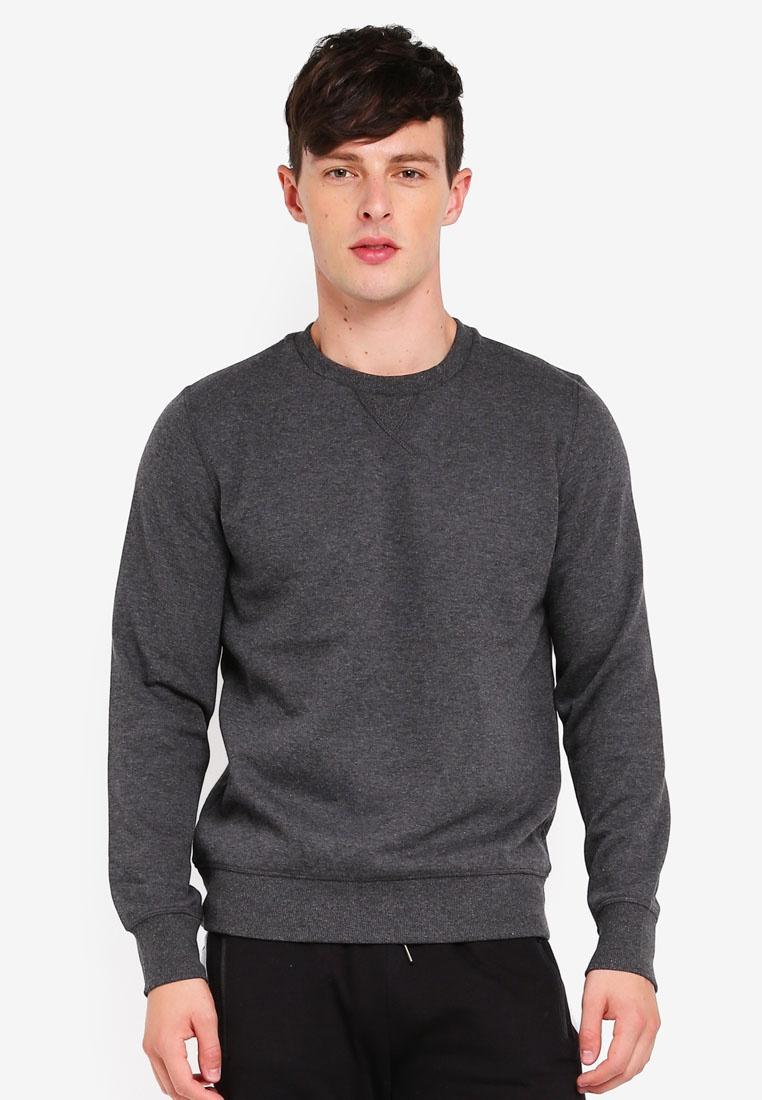 Brave Jet Sweatshirt Charcoal Marl Dark Soul Neck Crew Black Fqpw1OF