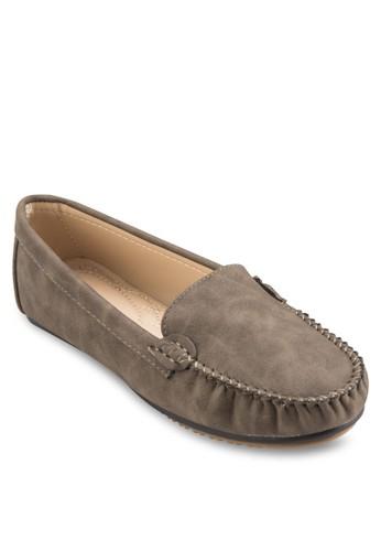 縫線細節麂皮樂福鞋, 女zalora 評價鞋, 船型鞋