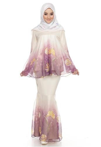 Rania Adeeba Kurung Nyala Purple from rania adeeba in Purple