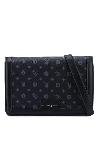 PLAYBOY BUNNY black Sling Bag 1D3CAACEE68944GS_1
