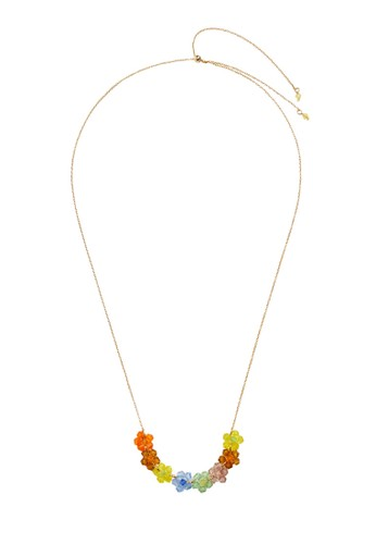 Mango gold Flower Beads Necklace 5AE7AACBB69F39GS_1