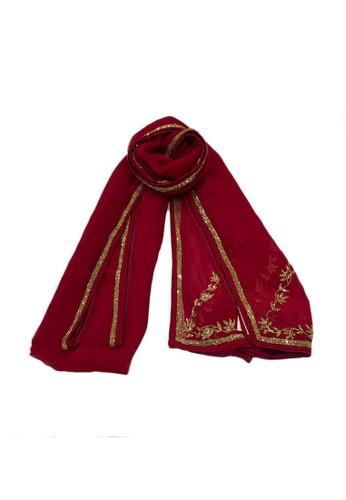 Devain Kapoor red Calypso Taj Selendang DB91DAA55143B3GS_1