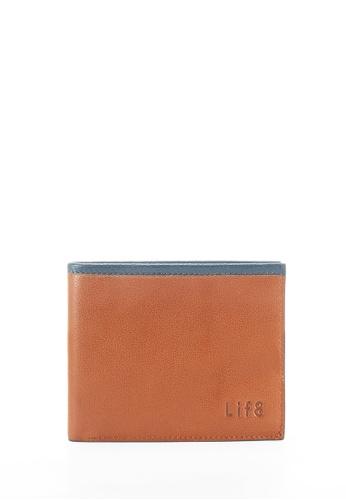 Life8 brown Formal Leather Short Wallets - 06389 - Brown LI248AC2UR79HK_1