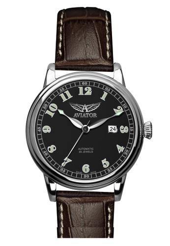 Aviator black and brown AVIATOR (V.3.09.0.025.4) 手錶 5BB43AC9615021GS_1