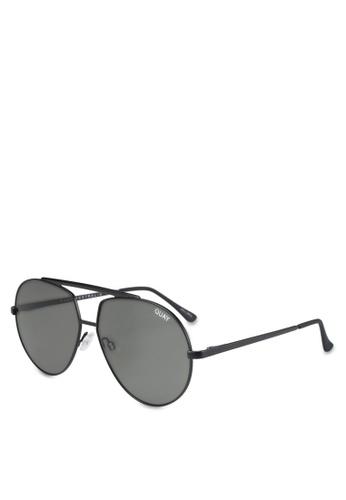 Quay Australia black Blaze Sunglasses QU661GL0SZBVMY_1