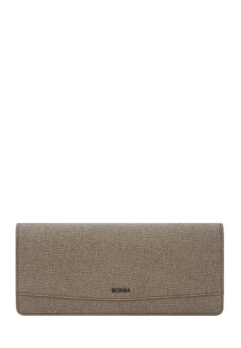 BONIA brown Taupe Betsy Two Fold Wallet 01A85AC0E08723GS_1