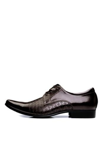 MIT 專櫃手作。全真皮壓紋皮鞋-04348-咖啡esprit 香港 outlet, 鞋, 皮鞋