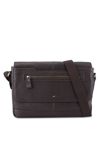 RAV Design brown Leather Messenger Bag RA113AC0SJ9SMY_1