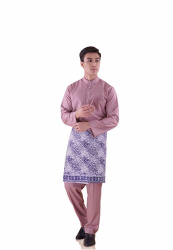 I Am Famous 粉紅色 Uzayr Baju Melayu with Sampin EB74CAA7E5FBCBGS_1