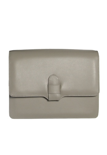 72 SMALLDIVE grey Calf Leather Shoulder Handbag Pumice C78F2ACDFF4537GS_1