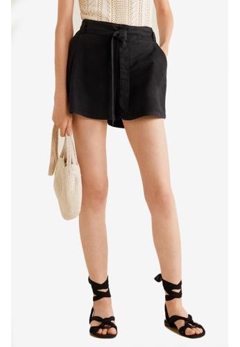 Mango black Soft Fabric Shorts 02EACAA7A6795CGS_1