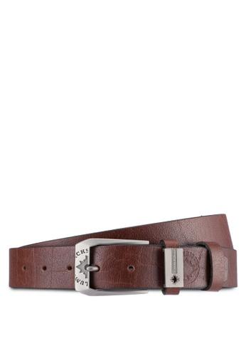 Lumberjacks brown Lumberjacks 35mm Faux Leather Belt LU545AC0SMCOMY_1