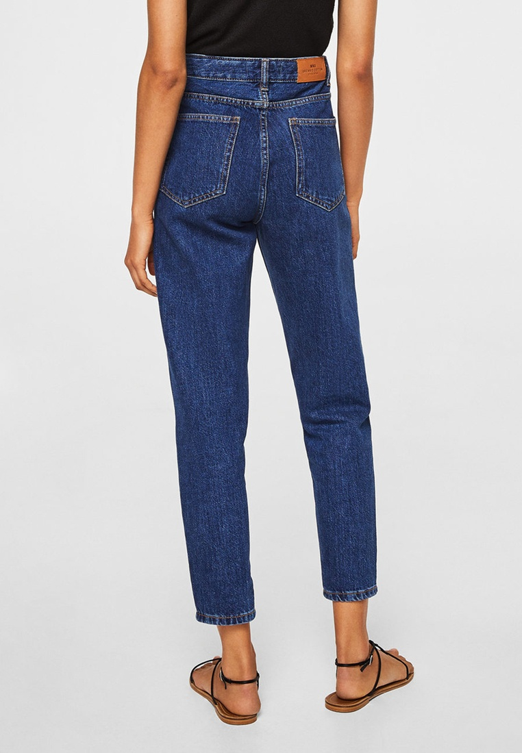 Jeans Blue Mango Relaxed Open Mom OIOxfqSE