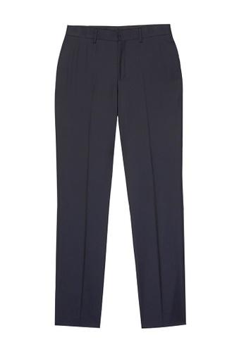 D'urban blue Staight Leg Suit Pants 01649AABBEB336GS_1