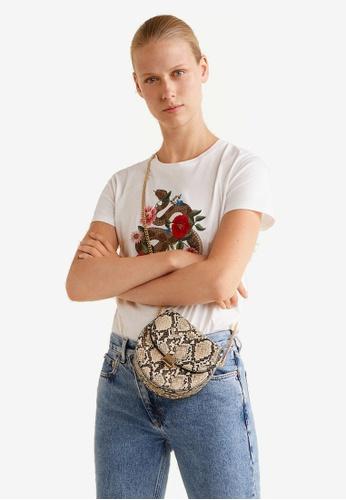 Mango white Decorative Embroidery T-Shirt 5367FAAF421168GS_1
