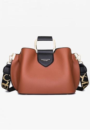 Halo brown Three Way Hand Bag Shoulder Bag 4A60EACCAA3F43GS_1