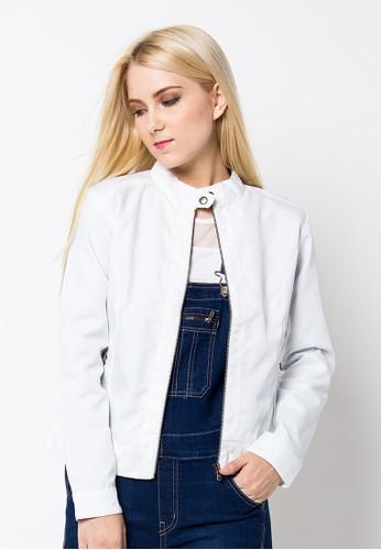 Rallies Slim Fit Semi Formal Youth Girl Jacket RVR 120 White