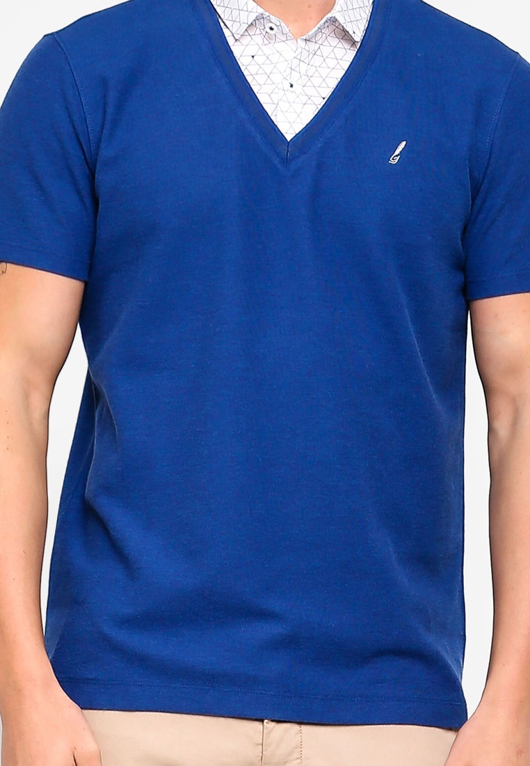 Collar Mood 2 G2000 Shirt Indigo Polo In 1 AYYRq8U
