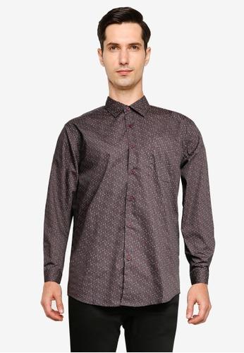 Electro Denim Lab grey Printed Shirt 63F08AA039BCE9GS_1
