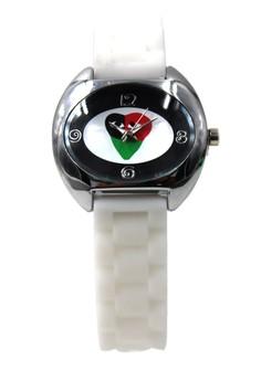 Play Trio White Silicon Strap Watch 3028L